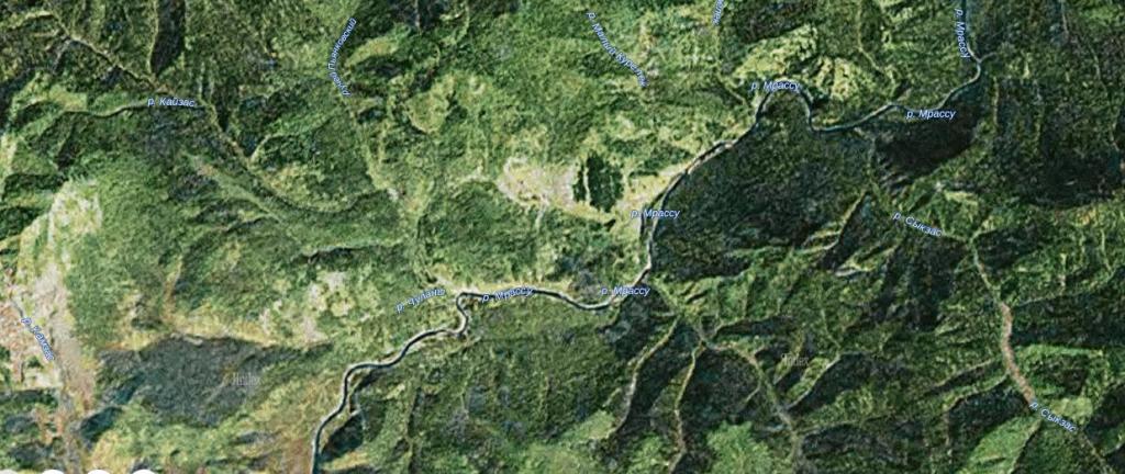 снимок реки Мрассу с Яндекс карты