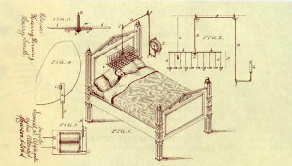 Самые ненужные патенты. Кровать-будильник