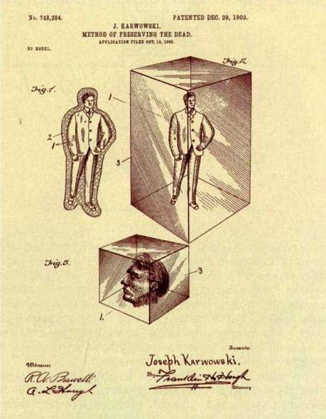 Самые бесполезные патенты. Сохранение покойников