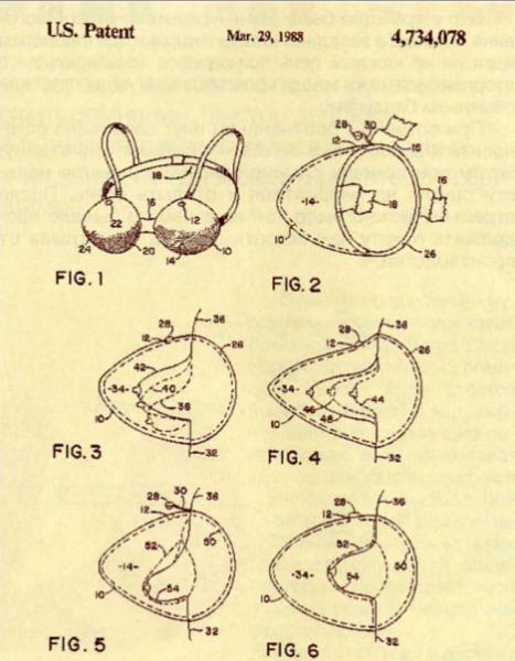 Самые бесполезные патенты. Лифчик с водой