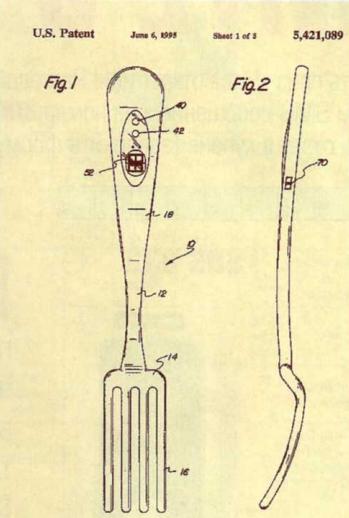 Самые бесполезные патенты. Вилка-будильник