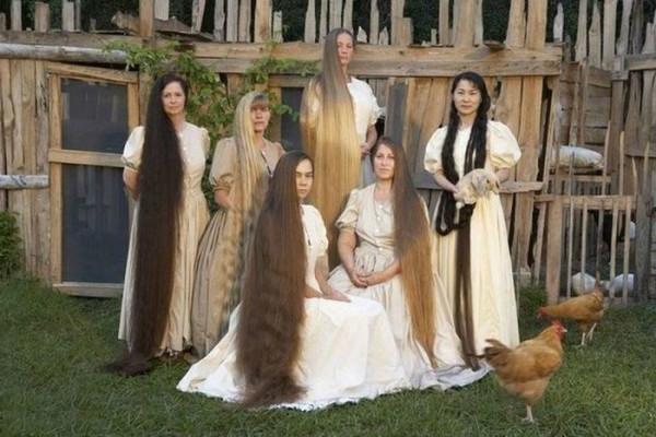 Русские женщины с длинными косами